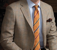 Sage and Cream Glen Plaid Wool Sport Coat
