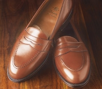 The Alden Full Strap Slip-On Loafer in Burnished Tan