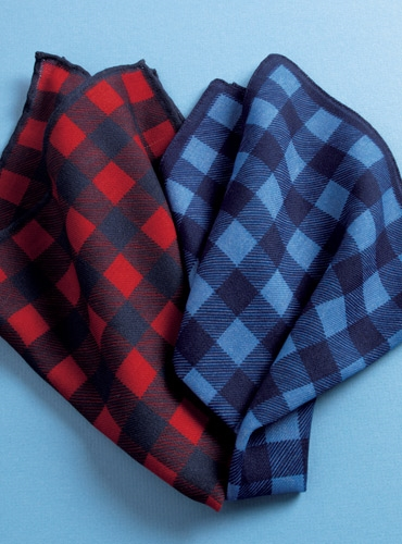 Wool Buffalo Check Pocket Square