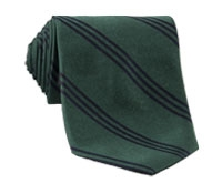 Silk Triple Stripe Tie in Tartan Green