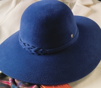 Ladies Wide-Brim Fur Felt Hat in Galaxy