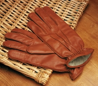 Nappa Leather Cashmere Lined Gloves in Tan