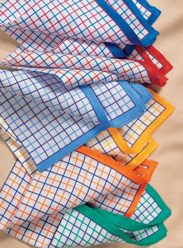 Linen Two-Tone Tattersall Check Pocket Squares