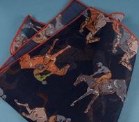 Cotton and Cashmere Jockey Printed Pocket Square