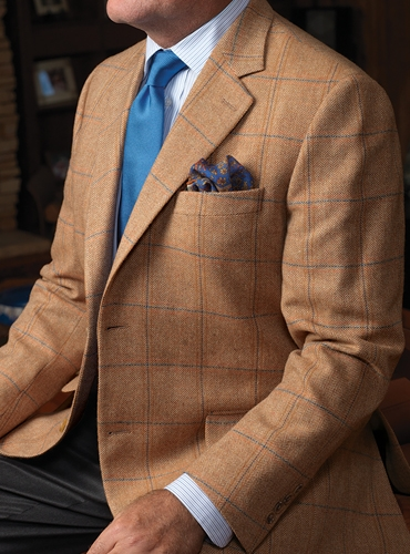 Sienna Herringbone Lambswool Sport Coat with Double Windowpane