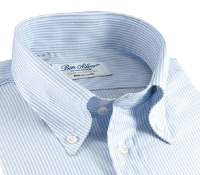 170's Blue & White Bengal Stripe Button Down