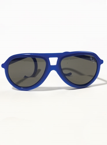 Children's Aviator Rubber Sunglass in Electric Blue