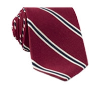 Mogador Woven Stripe Tie in Ruby