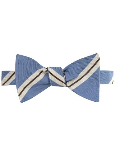 Mogador Striped Bow Tie in Sky