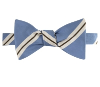 Mogador Striped Bow Tie in Sky