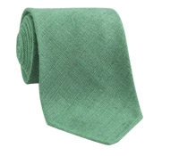 Shantung Silk Solid Tie in Sage