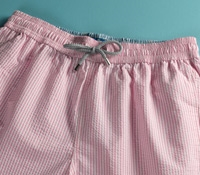 Seersucker Swim Trunk in Pink