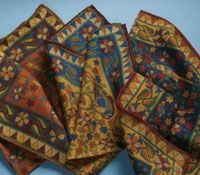 Wool and Silk Birds of Paradise Pocket Squares