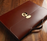 Slim Document Case in Chestnut