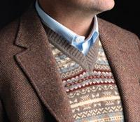 Fairisle Sweater Vest in Mocha