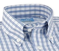 Blue, Blue and White Check Shirt