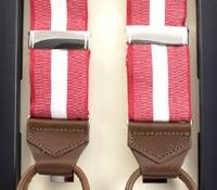 Oxford Single Stripe Braces in Red