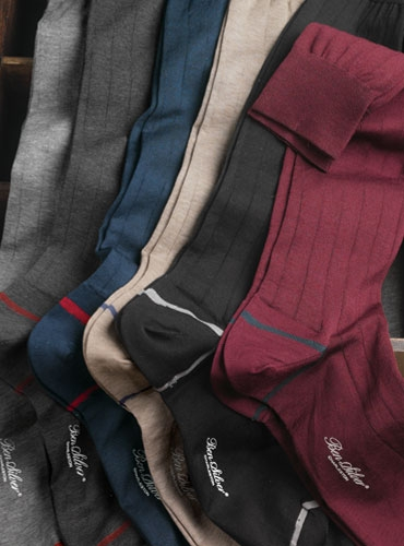 Fil D'Écosse Ribbed Dress Socks