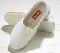 White Canvas Espadrilles with Rubber Soles