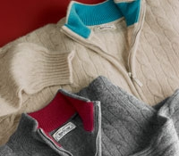 Cashmere Half Zip Cable Knit Sweaters