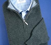 Cashmere Half Zip Sweater in Vintage
