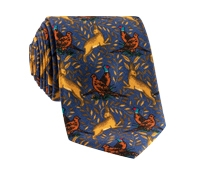 Woodland Printed Tie in Royal