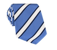 Mogador Silk Stripe Tie in Cornflower