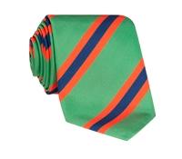 Silk Stripe Tie in Mint