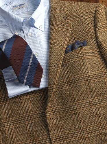 Jacket Wool Tan,Brown,Rust Glen Plaid