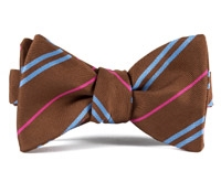 Mogador Double Stripe Bow in Oak