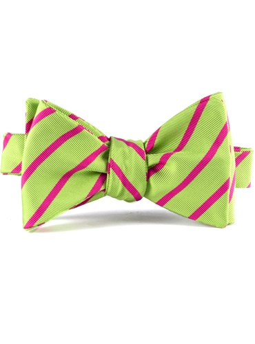 Mogador Bar Stripe Bow in Lime
