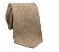 Shantung Silk Solid Tie in Almond