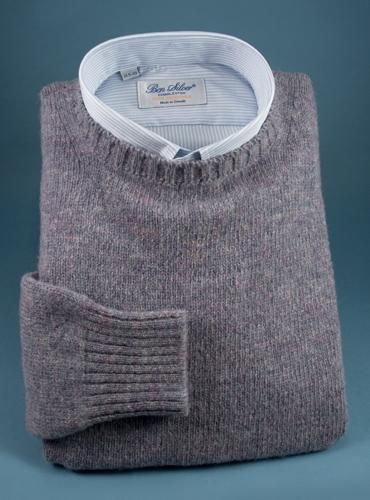 Shetland Crewneck Sweater in Mauve