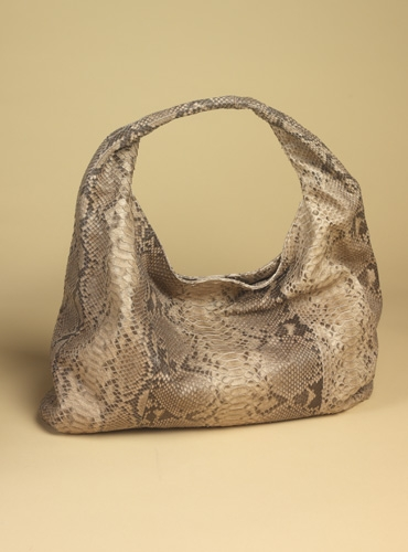 San Isidro Python Hobo in brown design