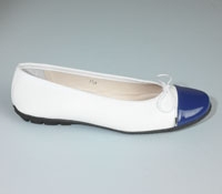 Contrast Toe White/Blue Flats