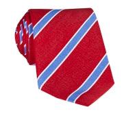 Silk Stripe Tie in Fire