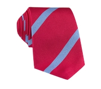 Silk Bar Stripe Tie in Magenta with Sky