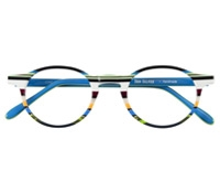 Multi-Colored Handmade Frame in Blue, Green, and White