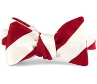 Mogador Silk Stripe Bow in Red