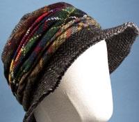 Ladies Herringbone and Tartan Hat