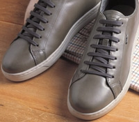 Geox Leather Sneakers in Grey