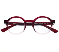 Bold Round frame in Ombre Red