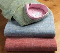 Linen Melange V-neck Sweaters