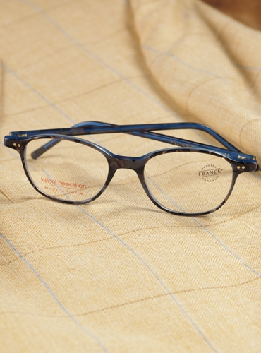 Semi-Square Frame in Tortoise with Blue