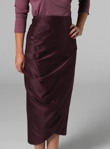 Marie Meunier Ogive Skirt in Plum