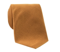 Mogador Silk Solid Signature Tie in Saffron