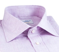 Lilac Linen Spread Collar