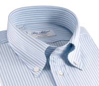 Blue and White University Stripe Oxford Button Down