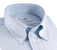Blue and White University Stripe Oxford Button Down