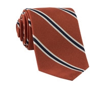 Mogador Woven Stripe Tie in Orange